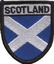 Scotland Saltire Small Shield Embroidered Patch (a069)